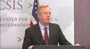 Đại sứ Hoa Kỳ tại Việt Nam, ông Ted Osius phát biểu tại Trung Tâm Chiến lược và Nghiên cứu Quốc tế CSIS ở Washington DC hôm 8/6/2016. Photo: CSIS