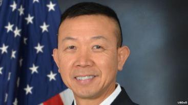 Ông Lapthe Flora, (tên Việt là Châu Lập Thể), trước đó là đại tá trong lực lượng Vệ binh Quốc gia của tiểu bang Virginia ở đông bắc Hoa Kỳ, đã được thăng hàm cấp tướng hôm 6/6/2016. Ảnh: USDoD