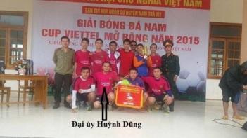 Đại úy Huỳnh Dũng, tội phạm buôn ma túy trở thành tuyển thủ đội tuyển bóng đá. Ảnh: Trần Văn Hải.