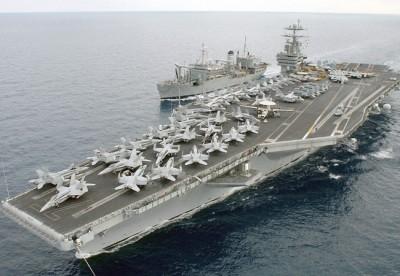 Mỹ sắp triển khai đồng thời hai cụm tác chiến tàu sân bay ở Biển Đông đề phòng bất trắc. Ảnh: internet