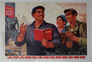 """Bức tranh gốc TQ có tên """"Học tập, ứng dụng tư tưởng triết học Mao Chủ tịch."""