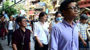 Nhiều đợt biểu tình về việc cá chết hàng loạt tại miền Trung đã nổ ra tại Hà Nội, TP Hồ Chí Minh và một số tỉnh thành khác trên cả nước hồi tháng 5/2016. Nguồn: FB Trinh Minh Hien