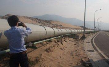 Đường ống dẫn nước xả thải của Formosa Hà Tĩnh. Ảnh: www.laodong.com