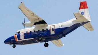 Máy bay C-212 của Cảnh sát biển Việt Nam, cùng loại với chiếc bị mất tích hôm 16/6. Ảnh: CSB VN