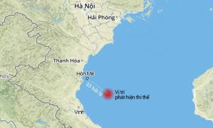 Vị trí phát hiện thi thể quấn vải dù cách Hòn Mê (Thanh Hóa) khoảng 33 hải lý.