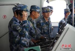 Lực lượng sĩ quan vừa được hạm đội Nam Hải hải quân Trung Quốc gọi tái ngũ tham gia tập trận trên Biển Đông ngày 13/6 vừa qua, ảnh: China News.