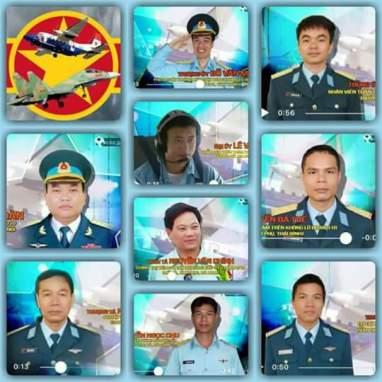 Các quân nhân và 2 chiếc máy bay rơi trong tai nạn vừa qua. Nguồn: internet