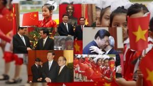 Hình ảnh ĐCS đón Tập Cận Bình với cờ 6 sao năm 2011. Nguồn: internet