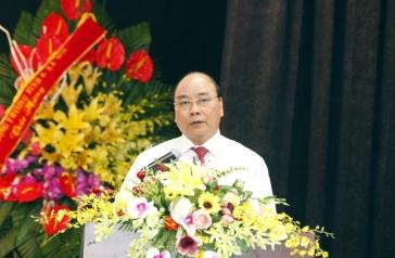 Thủ tướng Nguyễn Xuân Phúc phát biểu chỉ đạo tại buổi gặp mặt kỷ niệm 91 năm Ngày Báo chí cách mạng Việt Nam. Ảnh: DT