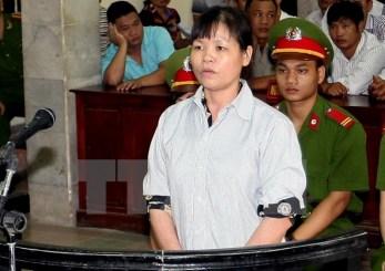 Bà Cấn Thị Thêu tại phiên tòa sơ thẩm năm 2014. Nguồn: internet