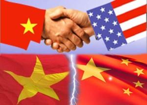 Quan hệ Mỹ – Việt – Trung. Ảnh: Internet.