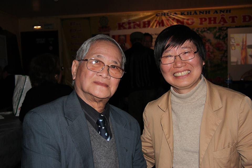Ông Đặng Xương Hùng và nhà văn Vũ Thư Hiên. Nguồn: FB Đặng Xương Hùng.