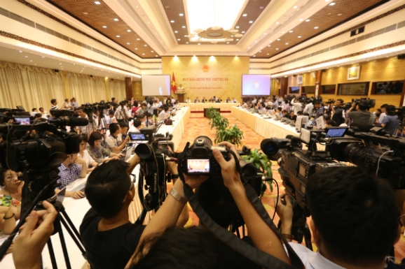 Cuộc họp thu hút đông đảo sự quan tâm của báo giới.