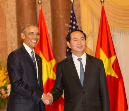 TT Obama và CTN Trần Đại Quang. Nguồn: internet