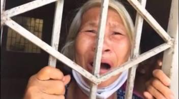 Một bà cụ ở Trung tâm Bảo trợ Xã hội 1. Nguồn: FB Võ Phi Long