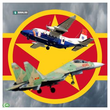 Hai chiếc máy bay SU-30MK2 và CASA 212