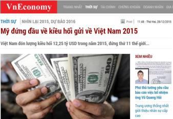 Ảnh chụp bài báo trên VnEconomy.