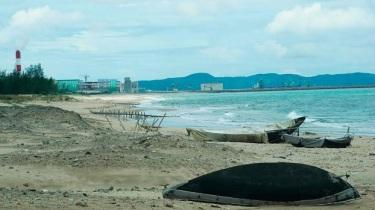 Khu vực biển gần nhà máy thép Formosa Hà Tĩnh hôm 1/7/2016. Ảnh: VNN