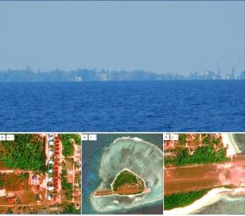 Đảo Ba Bình (Trường Sa) đang được Đài Loan xây dựng nhiều công trình mới. Hình chụp tháng 6.2016
