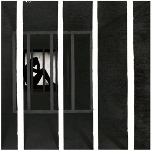 Nhà tù trong nhà tù. Ảnh chụp từ bản báo cáo của Tổ chức Ân xá Quốc tế.