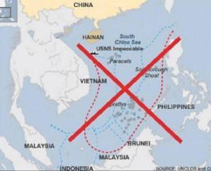 Đường lưỡi bò của TQ nuốt trọn Biển Đông. Ảnh: internet