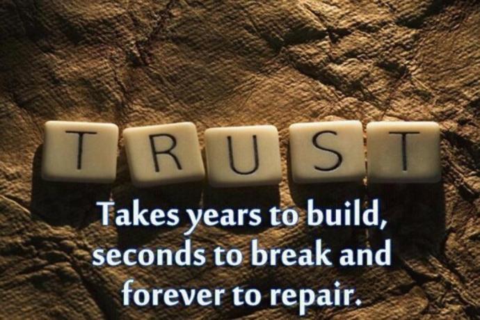 Lòng tin mất nhiều năm để tạo