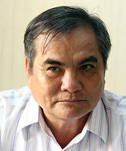 Ông Phan Thanh Liêm, Trưởng Đài phát thanh quận Ngũ Hành Sơn. Ảnh: Nguyễn Đông.