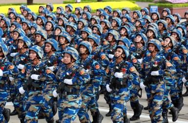 Lực lượng Hải quân VN đang diễn hành nhân dịp lễ 2/9/2015. Ảnh: báo Tuổi Trẻ.
