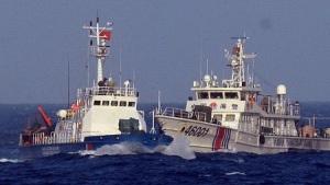 Tàu 46001 của Trung Quốc đâm thẳng vào tàu cảnh sát biển Việt Nam. Ảnh: internet ?n Th?ng (g?i v? t? di?m nóng Hoàng Sa)