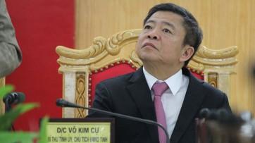 Ông Võ Kim Cự trong lần Thanh tra Chính phủ công bố kết quả thanh tra liên quan đến việc cho Formosa thuê đất. Ảnh D.T