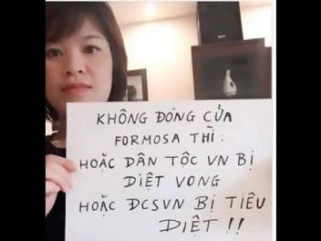 Thông điệp của người dân về Formosa. Ảnh: internet
