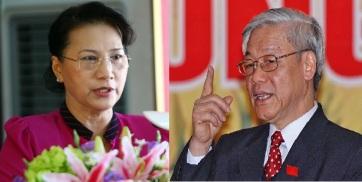 Chủ tịch QH Nguyễn Thị Kim Ngân và TBT Nguyễn Phú Trọng.