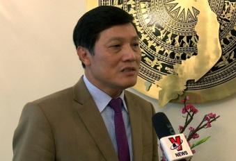 Đại sứ Trương Mạnh Sơn trả lời phỏng vấn của phóng viên TTXVN. Ảnh: Hồng Tâm