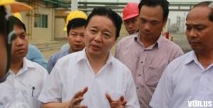 Bộ trưởng TN-MT Trần Hồng Hà (áo trắng). Nguồn: vietin.us