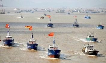 Lực lượng dân quân biển Trung Quốc. Nguồn: internet