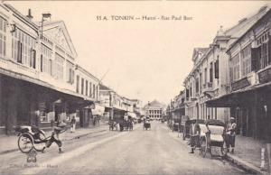 Phố cổ Hà Nội đầu thế kỷ 20. Kiến trúc của Pháp. Ảnh copy từ blog Nguyễn Thanh Nhàn.