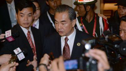 Ngoại trưởng Trung Quốc có mặt tại hội nghị ASEAN. Ảnh: Hoang Dinh Nam/ AFP