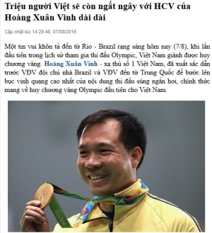 Ảnh chụp từ báo Đất Việt