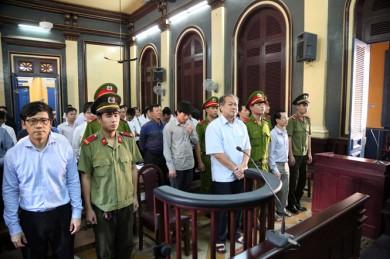 Phạm Công Danh tại phiên xử. Nguồn: internet