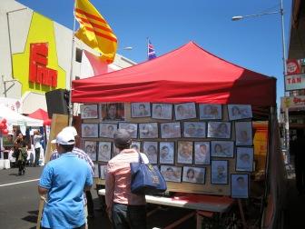 Hình ảnh tù nhân lương tâm tại một hội chợ Tết ở Úc trước đây. Ảnh: Nguyễn Quang Duy