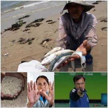 Hình ảnh: Cá chết trắng bãi, gạo mốc gây bệnh lạ và HCV bắn súng.