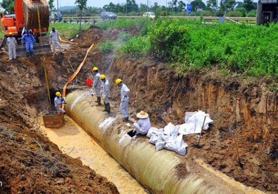 Đường ống nước Sông Đà đã 18 lần. Ảnh: Chinhphu.vn