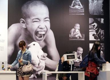 Bảo tàng bệnh Minamata ở Nhật Bản trưng bày các hình ảnh về người mắc bệnh. Ảnh: Masaru Komiyaji