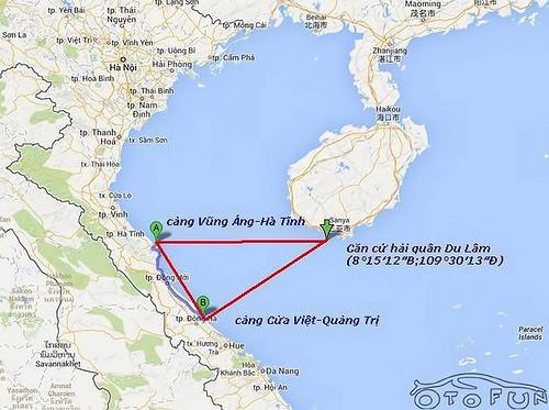 Vị trí của khu công nghiệp Vũng Áng, địa điểm chiến lược có thể cô lập miền Bắc Việt Nam với biển cả. Ảnh: internet