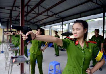 Sinh viên học viện cảnh sát. Nguồn: internet