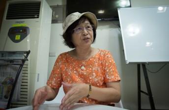 Bà Suh Chi Feng trong cuộc phỏng vấn với Zing.vn ở Vân Lâm hồi tháng 7. Ảnh: Thanh Tuấn.