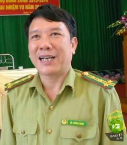 Đỗ Cường Minh, chi cục trưởng Kiểm lâm Yên bái. Ảnh: Kênh 13