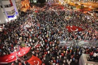Người dân xuống đường ở Ordu trong lần đảo chính ở Thổ Nhĩ Kỳ ngày 16/7/2016