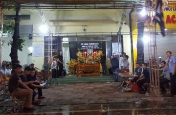 tang lễ tại nhà ông Phạm Duy Cường, Bí thư Tỉnh ủy Yên Bái. Ảnh: Người lao động