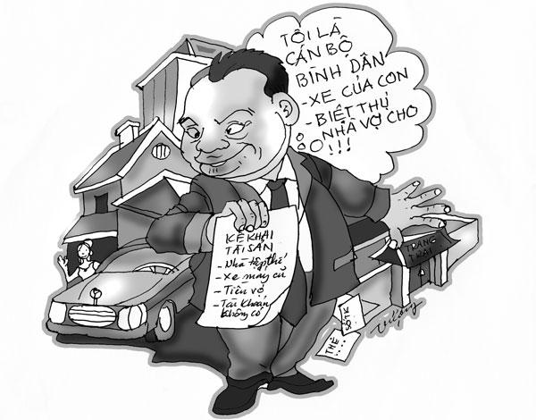 """Ảnh minh họa: quan chức """"nghèo"""". Nguồn: internet"""